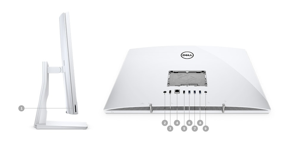 COMPUTADOR ALL IN ONE DELL INSPIRON IONE-3477-M20 - Portas e slots