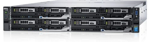 PowerEdge FX2-rackserver med PowerEdge FC630-bladservere
