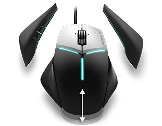 Alienware elite gaming mouse AW958 - Customization comes standard