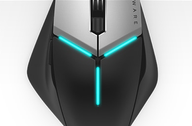 Alienware elite gaming mouse AW958 - AlienFX lighting effects