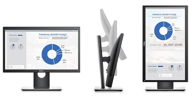 Dell P2018H Monitor - Purposefully designed for comfort and convenience.