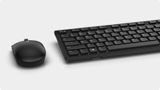 Dell P2018H Monitor - Dell Wireless Keyboard & Mouse Combo | KM636