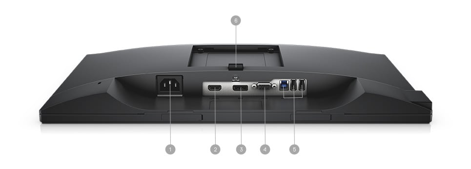 Dell P2018H Monitor - Connectivity Options