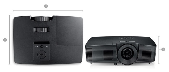 Dell P318S Projector - Dimensions and weight