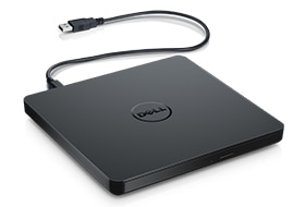 Unidad óptica delgada de DVD+/-RW USB externa de Dell (DW316)