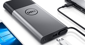 Dell 混合式轉接頭 + 行動電源 | PH45W17-CA