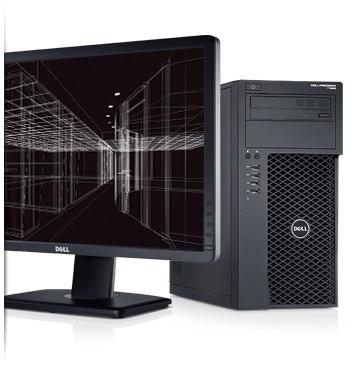 Precision T1650: evolucione más allá de la computadora de escritorio con la workstation completamente rediseñada Dell Precision T1650.