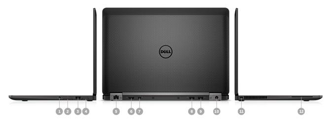 Новый Ultrabook™ Latitude12 серии7000— порты и разъемы
