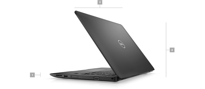 Latitude-14-3490-laptop - Dimensions & Weight