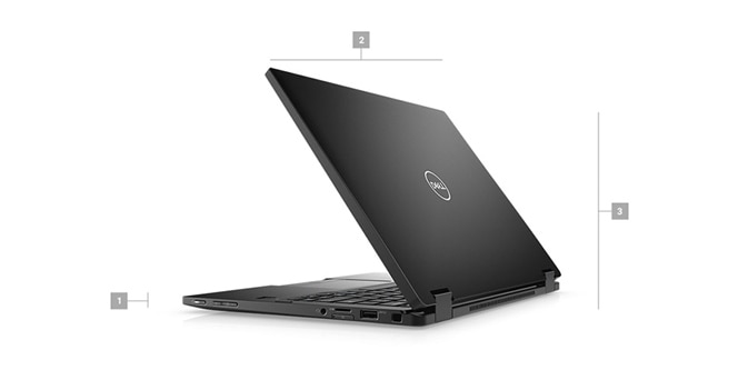 Latitude 13 7390 2-in-1 Laptop - Dimensions & Weight