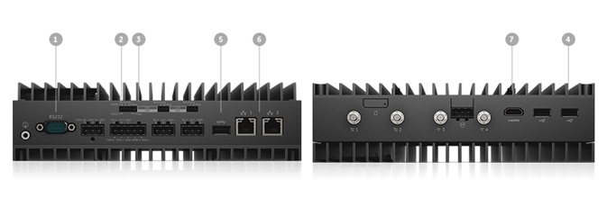 Dell Edge Gateway 5000 - Ports and slots