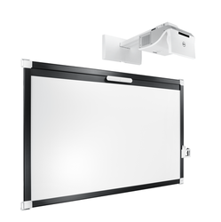S520 Projector with Wall Mount and Whiteboard