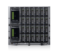 EqualLogic PS-M4110 Storage Blades and PowerEdge M420 Blade Servers in a PowerEdge M1000e Chassis