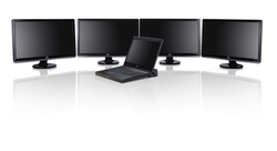 Precision M4700 Mobile Workstation in Dock with ST2420L Monitors