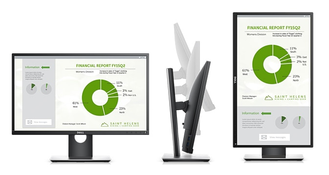 Dell P2417H Monitor – Purposefully designed for comfort and convenience