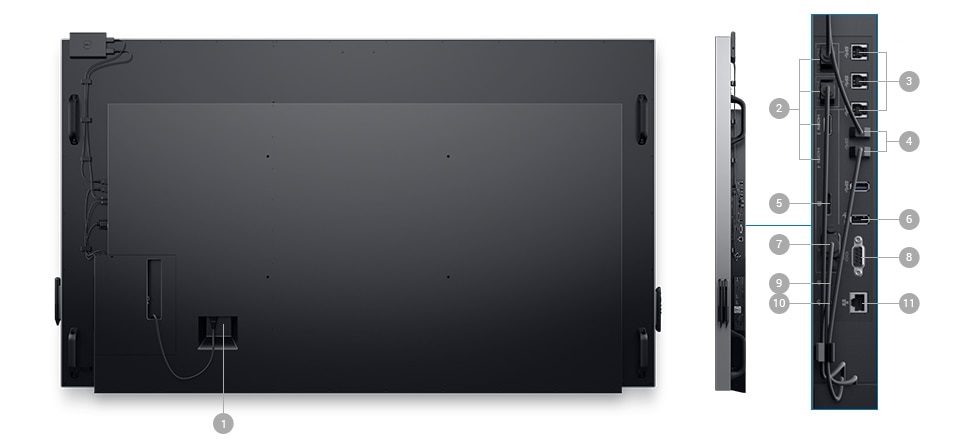 Dell C8618QT Monitor – Connectivity Options