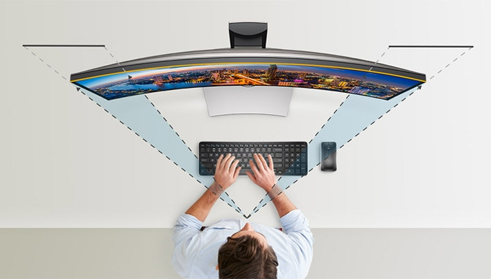 Dell U3417W Monitor - Lose yourself in all-encompassing views.