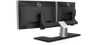 Socle de moniteur double