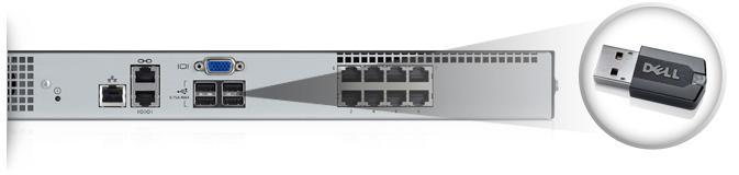 DELL POWEREDGE KVM1081AD 8-P0RT REMOTE SERVER CONSOLE SWITCH WITH MOUNTING RAILS