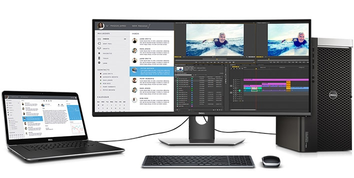 Dell U3417W Monitor - Make the most of your time.