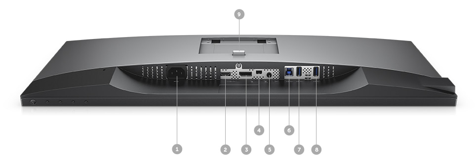 Écran Dell U2718Q - options de connectivité