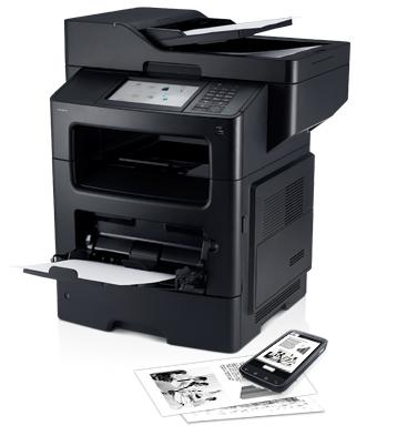 Imprimante laser monochrome multifonction Dell B3465dnf : gestion des documents efficace avec options d'extensibilité