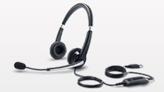 Dell U3417W Monitor - Dell Professional Stereo Headset | UC300