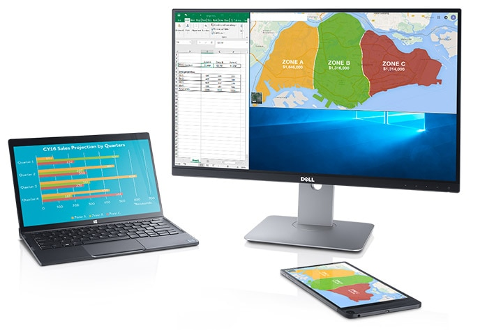 Dell U2417HWI Monitor – Improve work efficiency with wireless convenience