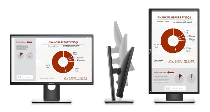 Dell P2217H Monitor – Purposefully designed for comfort and convenience