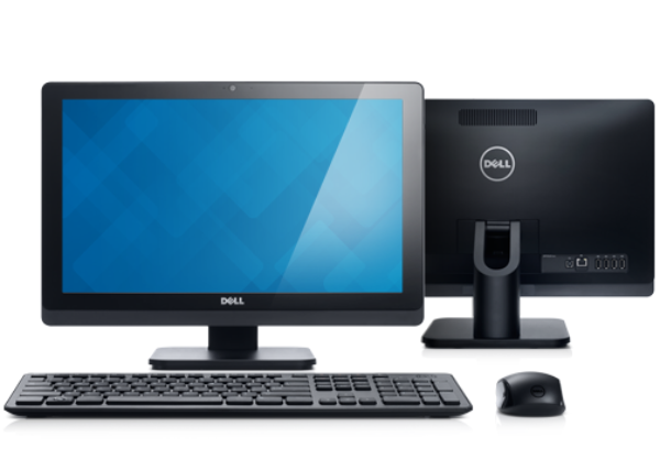 OptiPlex 3011 AIO Touch Desktop with Peripherals. desktop-optiplex-3011-one-touch-front-back-hero-504x350-ng