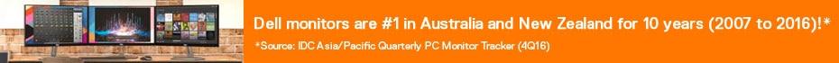 Dell monitors No.1 Worldwide