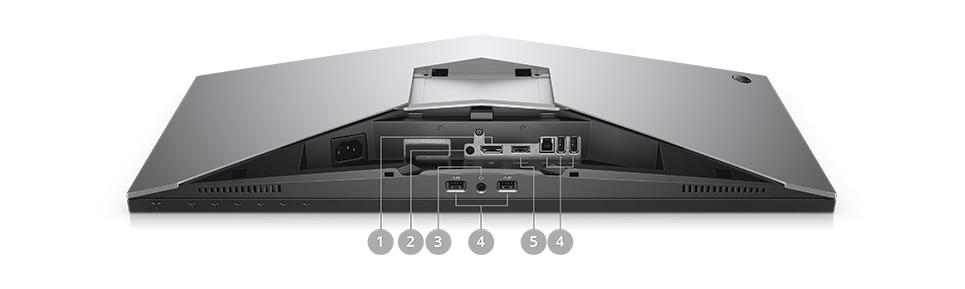 Neuer Alienware 25 Gaming-Monitor | AW2518HF - Konnektivitätsoptionen