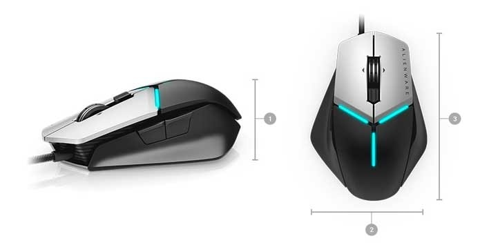 Alienware Elite Gaming Mouse | AW958 - Dimensions & Weight
