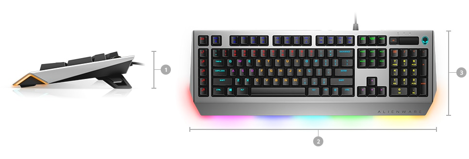 Alienware Pro Gaming Keyboard | AW768 - Dimensions & Weight