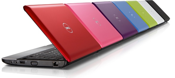 Dell Inspiron Mini 10 netbook computer color selection