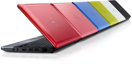 デル Inspiron Mini 10 ネットブックコンピュータのカラーセレクション