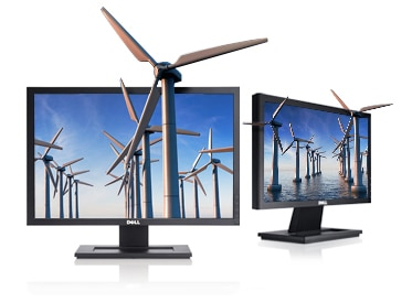 Dell LCD monitors and widescreen flat panel monitors are available in various sizes.