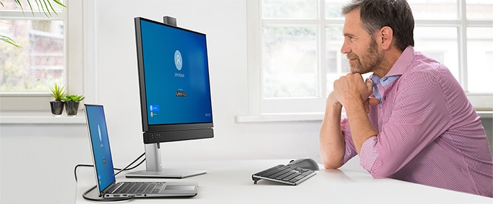 Dell 24 Video Conferencing Monitor: C2422HE | Team up. Seamlessly.