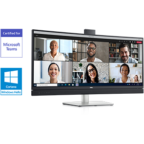 Dell 34 Curved Video Conferencing Monitor: C3422WE | Team up. Seamlessly.
