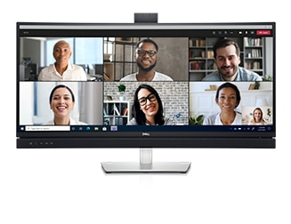 Dell 34 Curved Video Conferencing Monitor: C3422WE | World-class video conferencing
