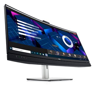 Dell 34 Curved Video Conferencing Monitor: C3422WE | Collaborate on a curve