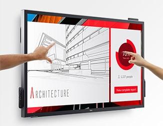 Dell 55 Monitor - C5518QT | Impressive visuals. Impactful presentations.