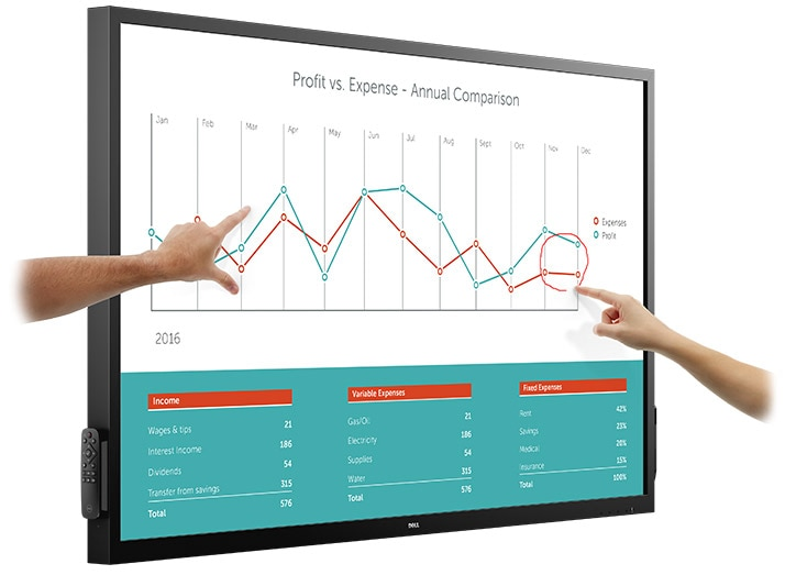 Dell 70 Interactive Conference Room Monitor - C7017T | Collaboration at your fingertips.