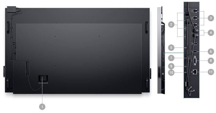 Dell 86 Monitor - C8618QT | Connectivity Options