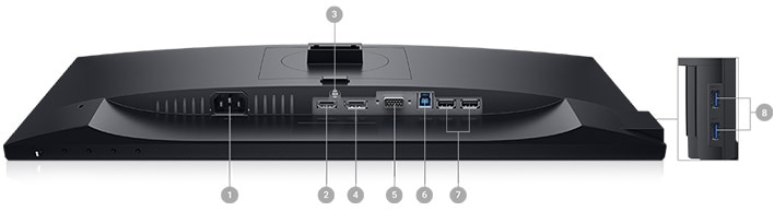 Dell 22 Monitor - P2219H   Connectivity Options