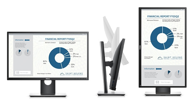 Dell 23 Monitor - P2317H | Purposefully designed for comfort and convenience.
