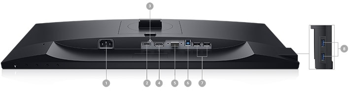 Dell 23 Monitor - P2319H | Connectivity Options