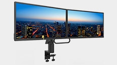 Dell 24 Video Conferencing Monitor - P2418HZ | Dell Dual Monitor Arm | MDA17