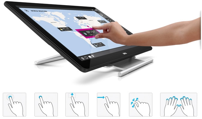 Dell 27 Monitor | P2714T - Engaging touch experience