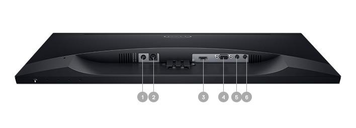 Monitor Dell22- S2418H | Opciones de conectividad